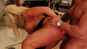 Busty MILF Fucked In Kitchen