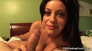 Big boobed Angelica Raven blows good